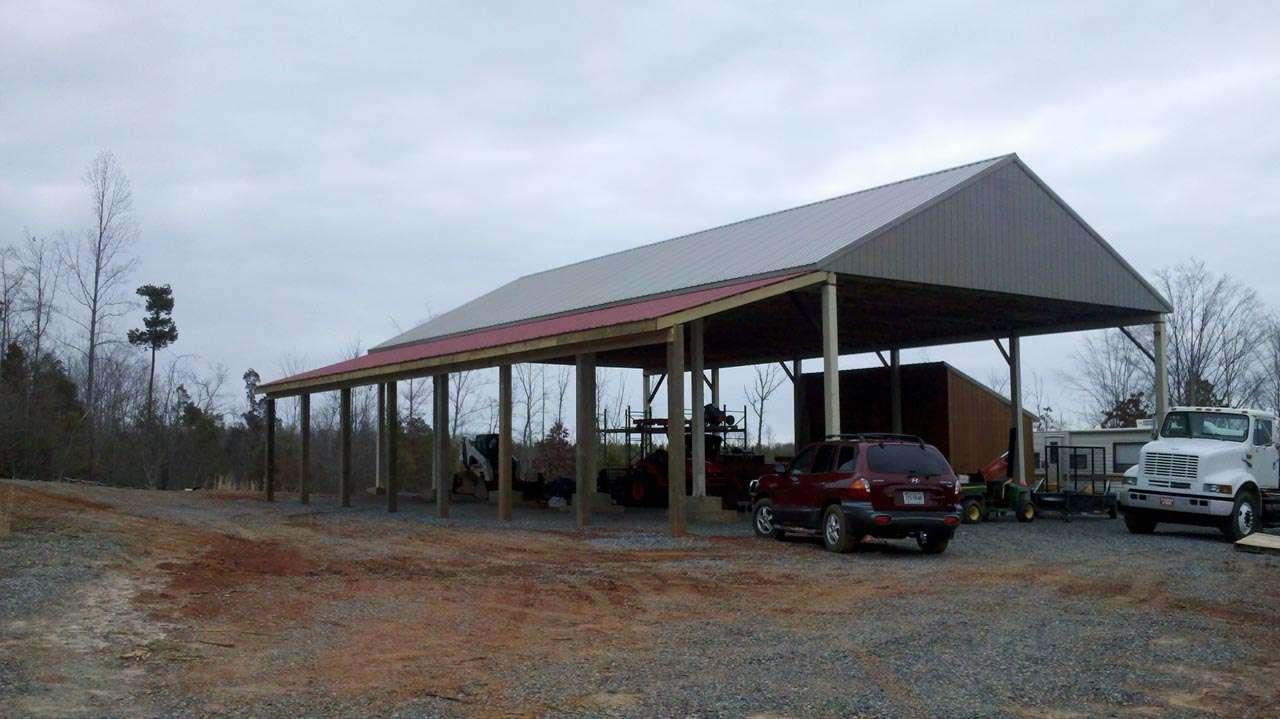 Outbuildings custom home builder richmond hanover va for Pole barn greenhouse