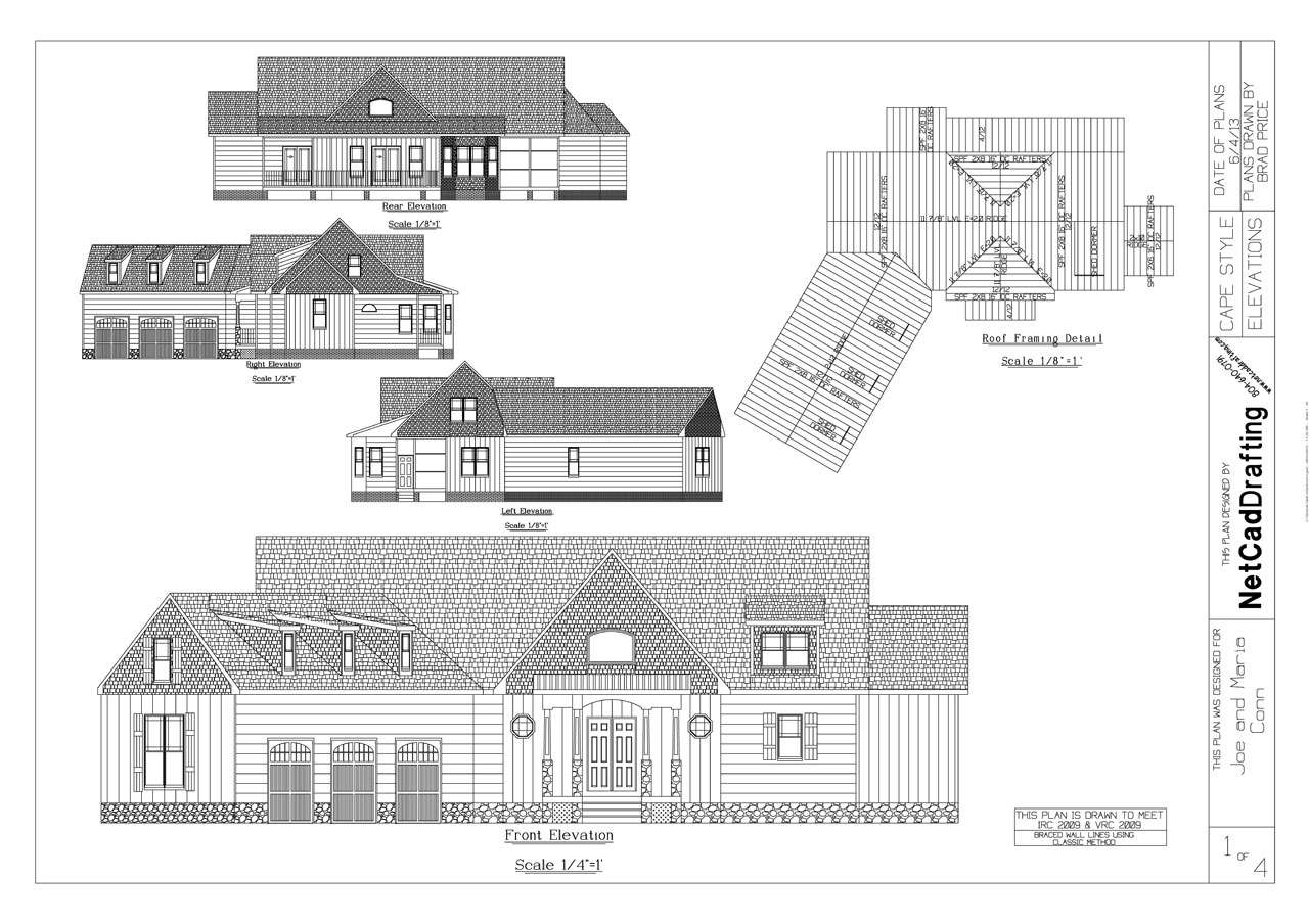 3 046 sqft cape first floor master 2 car for Cape floor plans first floor master